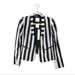 NWT Line & Dot Horizontal Striped Blazer